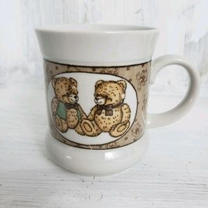 Vintage Coffee Mug Teddy Bear 90s Style